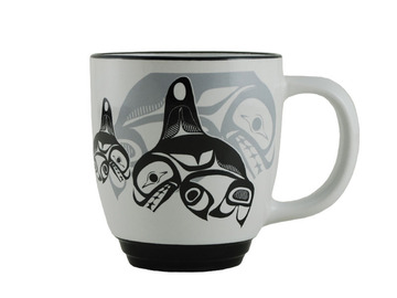 Bill Helin Many Whale Halo Mug:: Tasse en c