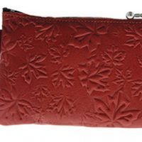Coin Purse Maple Leaves Red:: Bourse feuille d'