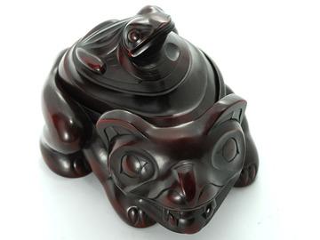 Bear & Frog Spirit Box by Artist Thomas McPhee:: Bo