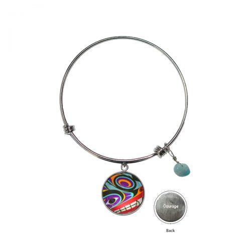 Circle Charm Bangle