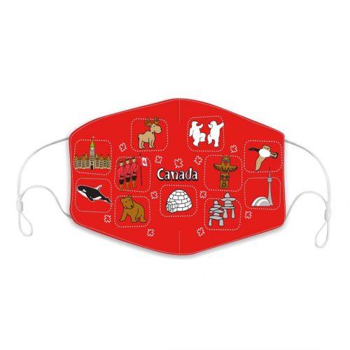 Reusable Children Face Mask - Canada Icons