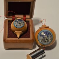 Wooden case for ornaments