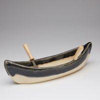 Canoe dip pot - granite