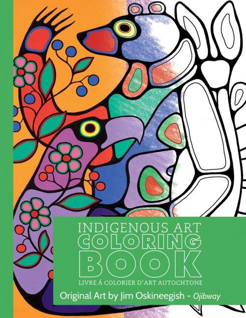 Jim Oskineegish Colouring Book