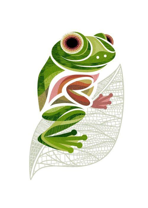 Impression numérique - Flo la grenouille