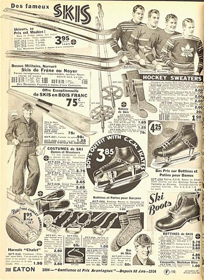 Avant le cybercommerce le hockey for Catalogue de fleurs par correspondance