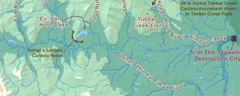 La région de la rivière Timber Creek (Carte)