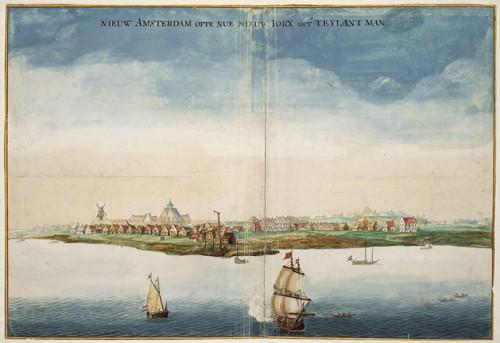 Vue de la Nouvelle-Amsterdam en 1664