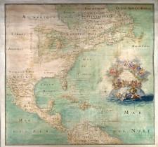 Carte de l'Amérique septentrionale, attribuée à Claude Bernou, 1681