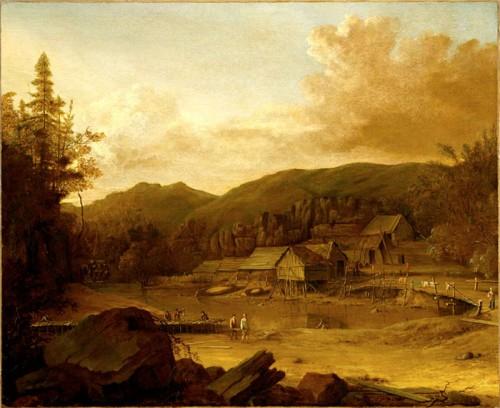Établissement de pêche, Baie de Plaisance, vers 1700.