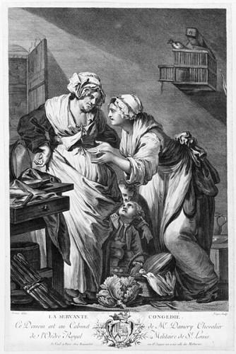 La Servante congédiée, 18e siècle, d'après Jean-Baptiste Greuze