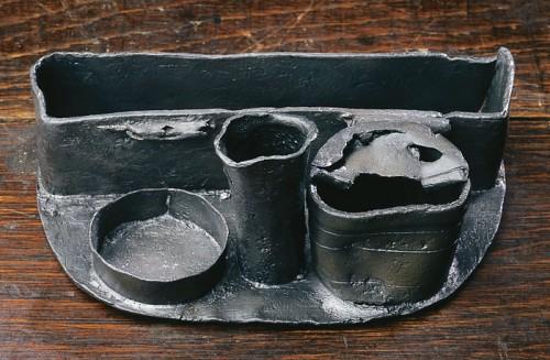 Écritoire retrouvé sur le site de la seconde habitation de Champlain, 1624-1688