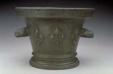 Mortier de bronze daté 1636, retrouvé près de Parry Sound, Ontario