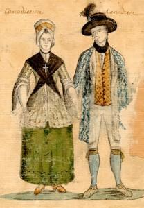 Couple de Canadiens, deuxième moitié du XVIIIe siècle