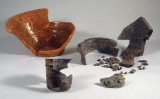 Jarre en grès normand et terrine en terre cuite