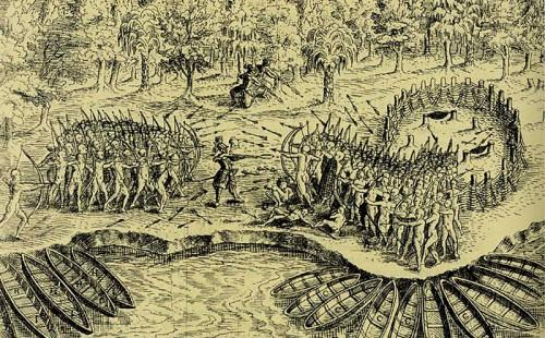 Défaite des Iroquois au Lac Champlain en 1609