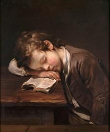 « Le petit paresseux », tableau de Jean-Baptiste Greuze, 1755
