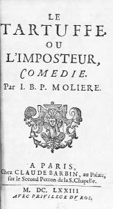 Le tartuffe ou l'imposteur, page de titre