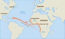 L'origine géographique des esclaves africains