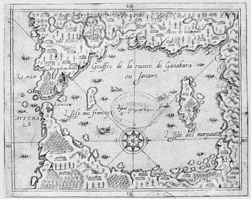 Gouffre de la rivière de Ganabara ou janaire, par André Thevet (1516-1590)