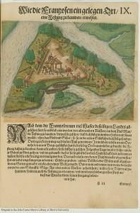 Charlesfort, 1591, publié par Theodor de Bry
