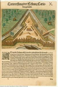 Fort Caroline, 1591, publié par Theodor de Bry