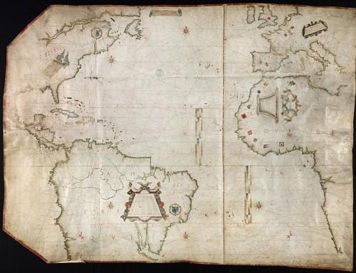 Carte de l'Océan Atlantique, Amérique du Nord
