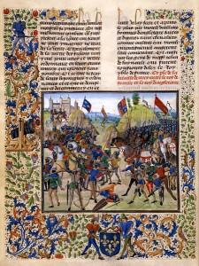 Bataille de Crécy, vers 1475, par l'enlumineur Loyset Liédet