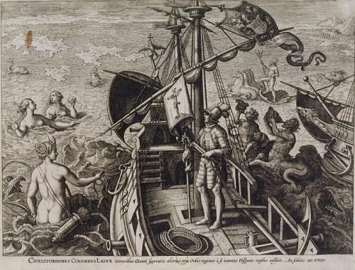 Christophe Colomb, par Adriaen Collaert (vers 1560-1618), graveur