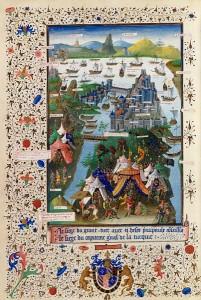 Siège de Constantinople, 3e quart du 15e siècle, par l'enlumineur Jean Le Tavernier