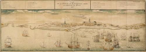 Vue de la ville de Louisbourg prise en dedans du port, 1731, par Verrier fils