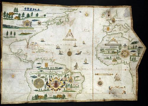 Carte de l'Océan Atlantique, Amérique
