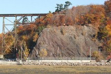Vue de la falaise du site archéologique Cartier-Roberval
