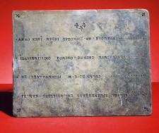 Plaque de La Vérendrye (recto)