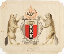Armoiries proposées pour la Nouvelle-Amsterdam, Nouvelle-Hollande, vers 1630, artiste inconnu