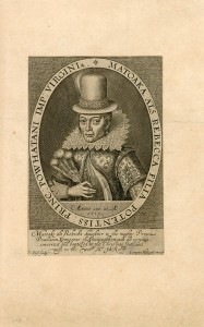 Portrait de Matoaka (Pocahontas), 1616, paru dans The generall historie of Virginia, New England, and the Summer Isles, par John Smith