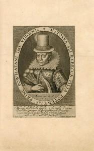 Portrait de Matoaka (Pocahontas), 1616, paru dans The generall historie of Virginia, New England, and the Summer Isles, par John Smith