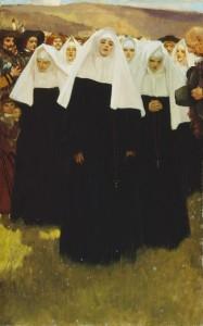 L'arrivée des Ursulines, 1639, peint vers 1908-1911