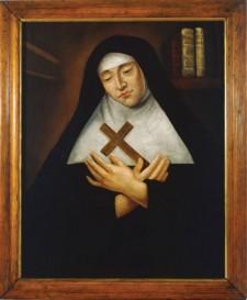 Portrait de la vénérable Marie de l'Incarnation, Anonyme, 1672, Huile sur toile
