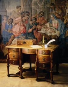 Bureau Mazarin, fin du 17e siècle, Musée des Augustines de l'Hôtel-Dieu de Québec