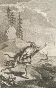 Illustration tirée de Nouveaux voyages aux Indes Occidentales. Partie 2, 1768, par Jean Bernard Bossu