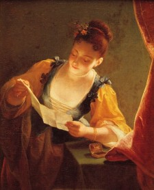 Jeune fille lisant une lettre