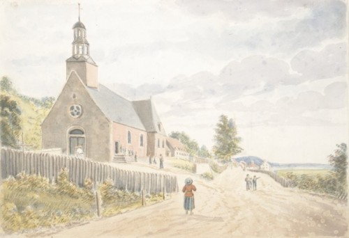 L'église de Sainte-Anne, 1829, par James Pattison Cockburn