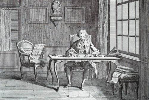 L'art d'écrire, planche II de l'Encyclopédie, ou dictionnaire raisonné des sciences, des arts et des métiers, 1762-1772, par Diderot et d'Alembert