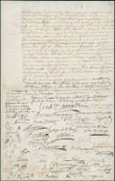 Ratification d'une convention par les gens de la Colonie, 10 octobre 1700