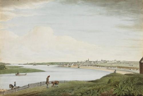 Vue de Québec prise à proximité de la traverse de Beauport en 1787