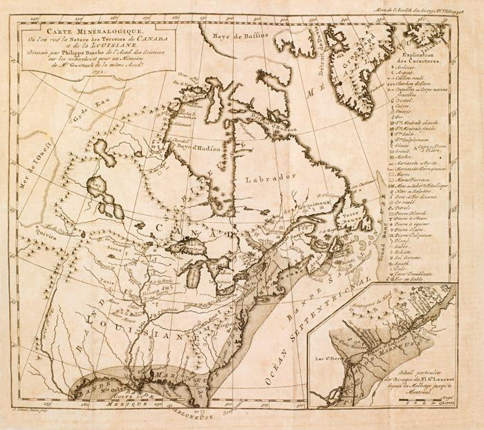 Carte Minralogique O Lon Voit La Nature Des Terrains Du Canada Et De