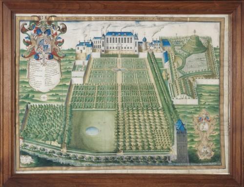 Jardin du Roi pour la culture des plantes médicinales, 1636, par Frederic Scalberge