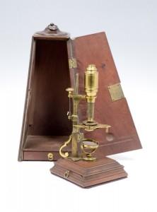 Microscope, vers 1750, par John Cuff, Londres