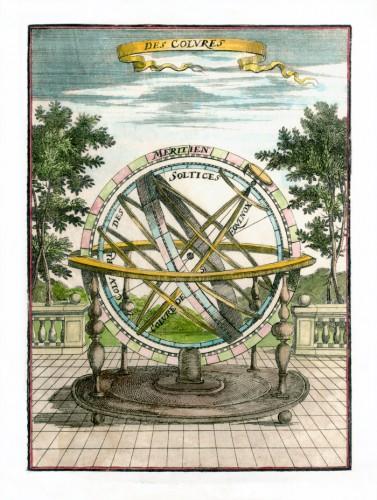 Sphère armilliaire, 1685, par Alain Manesson Mallet